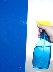Bottle Of Cleaning Solution Stock Images