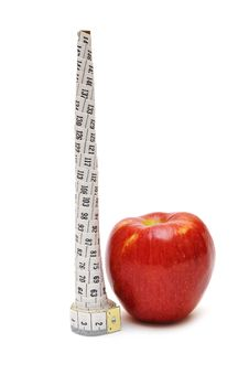 Free Red Apple And Tape Measure Royalty Free Stock Photography - 17510517