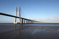 Free Vasco Da Gama Bridge In Lisbon Stock Photography - 17510572