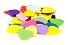 Free A Stack Of Various Color Guitar Picks Stock Photos - 17510933