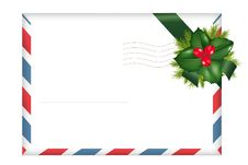 Free Envelope With Holly Berry. Vector Royalty Free Stock Images - 17511419