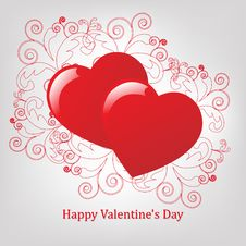 Free Valentines Day Card. Vector Royalty Free Stock Images - 17511429