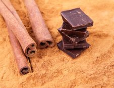 Free Cinnamon And Chocolate Stock Images - 17512154