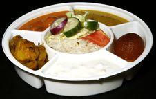 Free Indian Thali Combo Royalty Free Stock Photo - 17512585