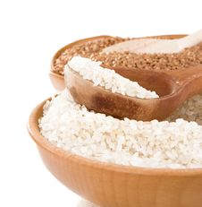 Free Rice And Buckwheat Isolated On White Stock Photos - 17514173