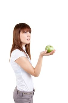 Free The Girl With Apple Stock Photography - 17514232