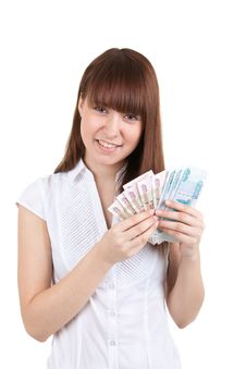 Free The Girl With Money Royalty Free Stock Photo - 17514455
