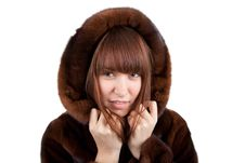 Free The Girl In A Mink Fur Coat Royalty Free Stock Image - 17514476