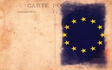 Free Old Vintage Grunge Postcard European Union Flag Stock Image - 17514671