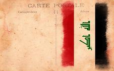 Free Old Vintage Grunge Postcard Iraq Flag Royalty Free Stock Photo - 17514835
