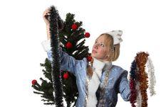 Free Snow Maiden Stock Photography - 17515052