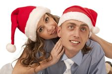 Free Woman Whispering In Boyfriend`s Ear Stock Photo - 17515760
