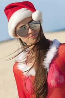 Free Santa Clause On The Beach Stock Image - 17515841