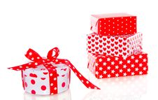 Free Red And White Gifts Royalty Free Stock Images - 17517339