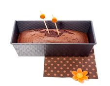 Home Baked Chocolate Cake Stock Images