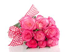 Free White Roses With Pink Edges Royalty Free Stock Photo - 17517465