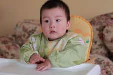 Free Baby On Chair Royalty Free Stock Photos - 17517648