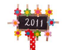 Free 2011 Written On A Blackboard Stock Photo - 17517950