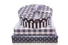 A Pile Grey White Gifts Stock Photography