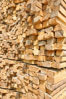 Background Of Wooden Logs Royalty Free Stock Photography