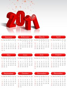 Free 2011 Calendar Royalty Free Stock Images - 17518169