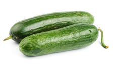 Free Two Cucumbers Stock Images - 17518284