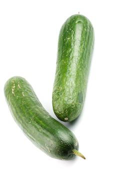 Free Two Cucumbers Royalty Free Stock Image - 17518296