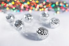 Free Christmas Disco Balls Royalty Free Stock Photo - 17518365