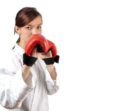 Free Girl With Red Gloves Royalty Free Stock Images - 17518399