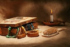 Free Still-life With Wooden Casket Stock Photos - 17518453
