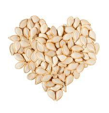 Free Heart From Pumpkin Seeds Isolated On White Royalty Free Stock Photos - 17518678
