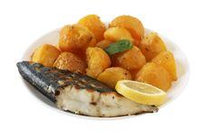 Free Grilled Swordfish With Potato Royalty Free Stock Photos - 17519018