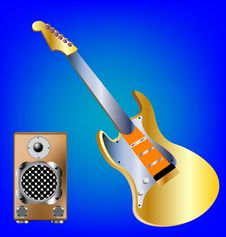 Free Music Tools Guitar And Amplifier Stock Photography - 17519322