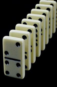 Free Domino Tiles On Black Royalty Free Stock Photos - 17519398