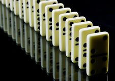 Free Domino Tiles On Black Royalty Free Stock Images - 17519539