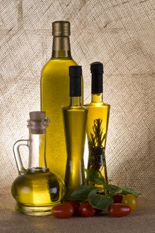 Free Olive Oil Bottles Stock Photo - 17519580