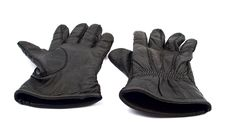 Free Black Leather Gloves Royalty Free Stock Images - 17519749