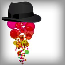 Free Silk Top Hat With Abstract Design Elements Royalty Free Stock Photography - 17519997