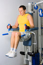 Free Man Training In Fitness Center Stock Images - 17520284
