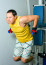 Free Man Training In Fitness Center Stock Images - 17520304