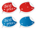 Free Editable Best Price Stickers Royalty Free Stock Images - 17520319