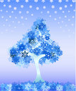 Free Winter Tree From Snowflakes Royalty Free Stock Photo - 17521975