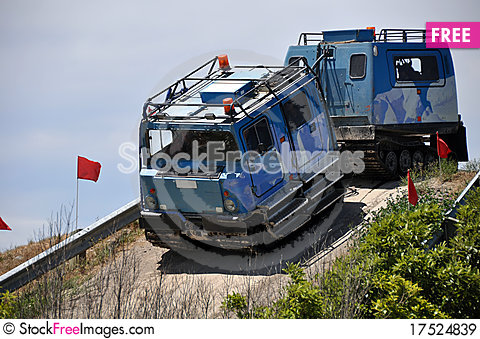 Free Hagglund Outside Christchurch Antarctic Centre Royalty Free Stock Images - 17524839