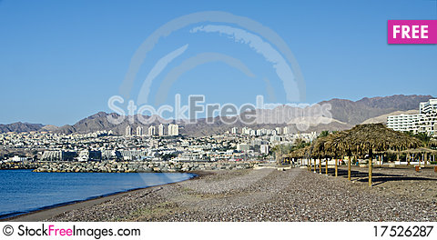 Free View On Resort Hotels In Eilat City, Israel Royalty Free Stock Photography - 17526287