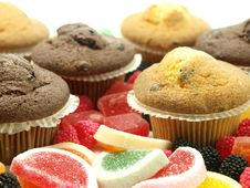 Free Fresh Baked Muffins Royalty Free Stock Photography - 17520047