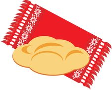 Free Bread On The Decorative Serviette Royalty Free Stock Photos - 17520048