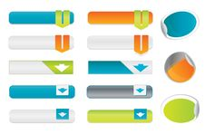 Free Blank Buttons Royalty Free Stock Photography - 17520157