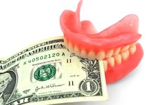 Free Dentures And Dollar Royalty Free Stock Photos - 17520228