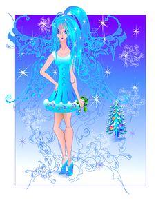 Free Winter Fairy Royalty Free Stock Photos - 17520518