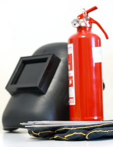 Free Welding Equipment & Fire Extinguisher Royalty Free Stock Images - 17521059